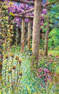 Secret Garden mixed media on paper 13″ x 17″ framed £250