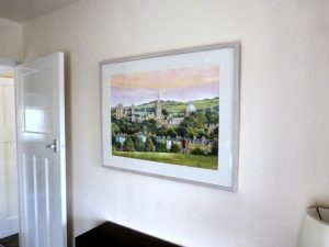 The painting in situ